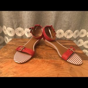 Sperry Top Sider Red Cork Wedge Sandal